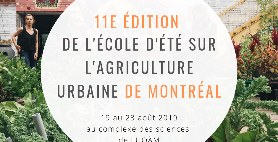 11e édition de l'école d'été sur l'agriculture urbaine.